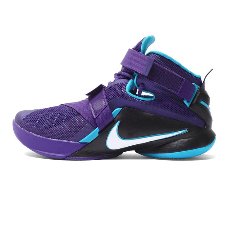 耐克男鞋战士zoom詹姆斯士兵9战靴使节8实战篮球鞋818678-001图片