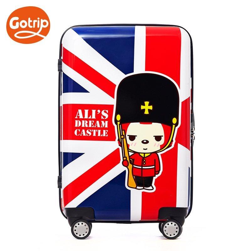gotrip拉杆箱阿狸米字旗英伦风卡通行李箱飞机万向轮
